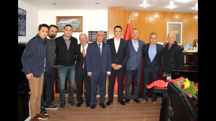 Mersin Amatör Spor Kulüpleri Federasyonu'ndan Belediye'ye Ziyaret