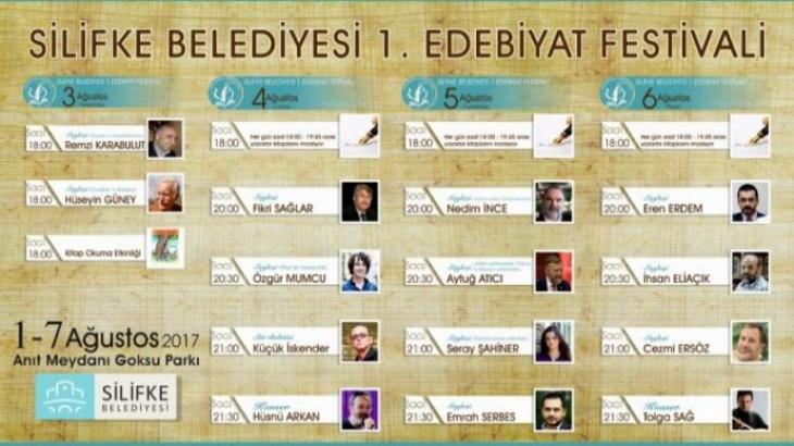 """Silifke'de """"Edebiyat Festivali"""" Düzenlenecek"""